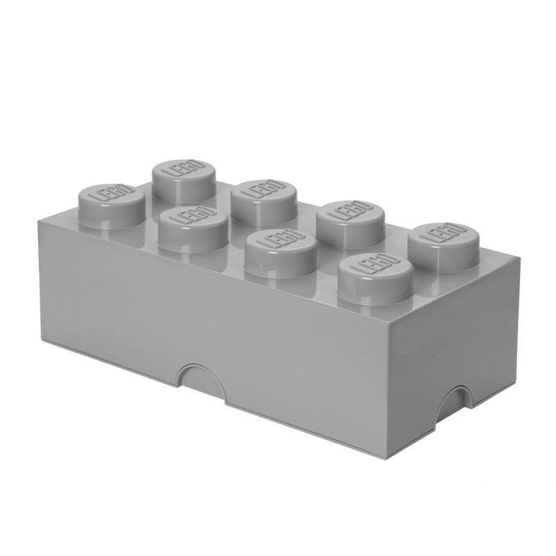LEGO Säilytysrasia 8 Design Collection Stone Grey