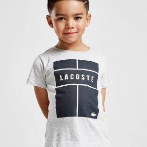 Lacoste Box Logo T-Shirt Harmaa