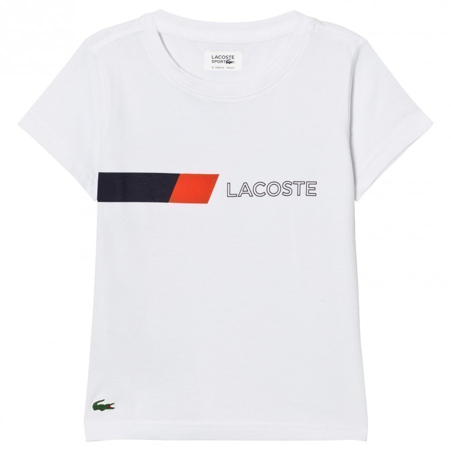 Lacoste Branded Ultradry Colorblock Tee White T-Paita