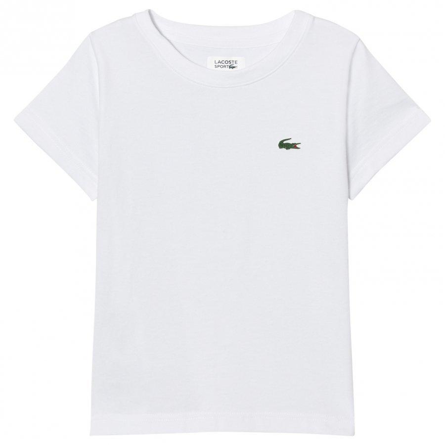 Lacoste Branded Ultradry Tee White T-Paita