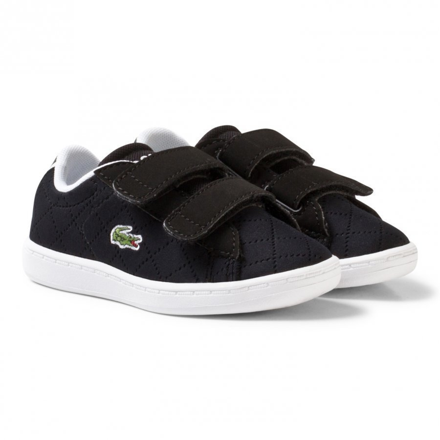 Lacoste Carnaby Perforated Evo 317 3 Trainers Black Lenkkarit