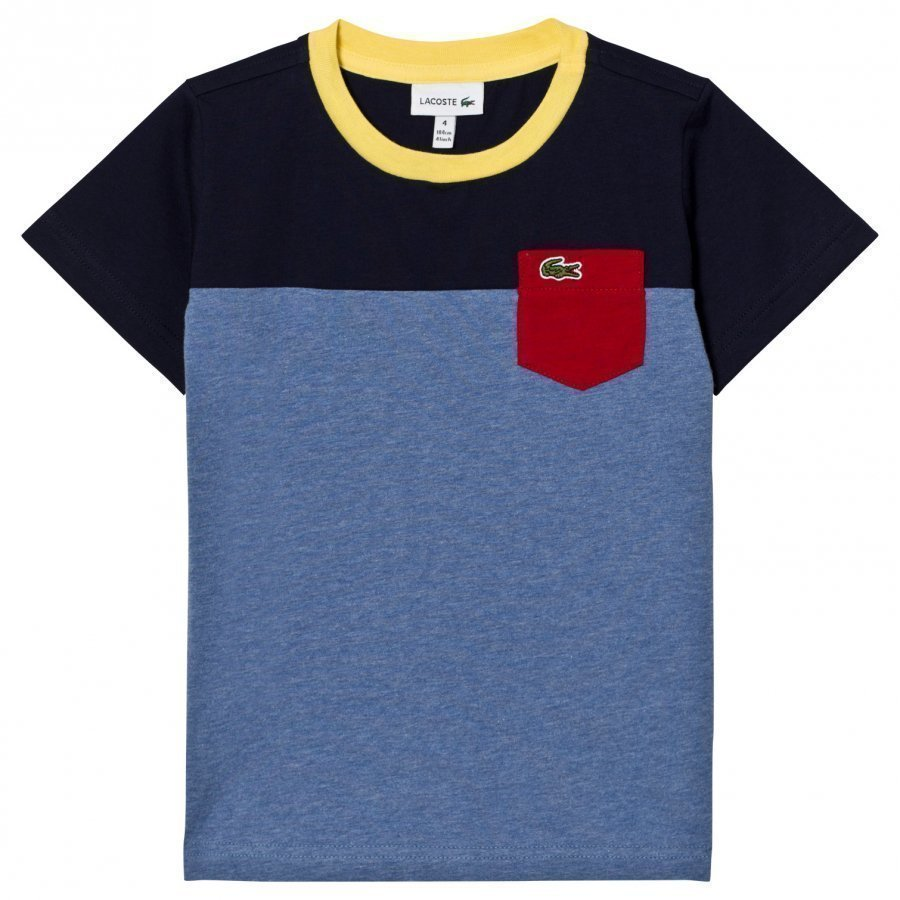 Lacoste Colorblock Pocket Tee Blue/Navy T-Paita