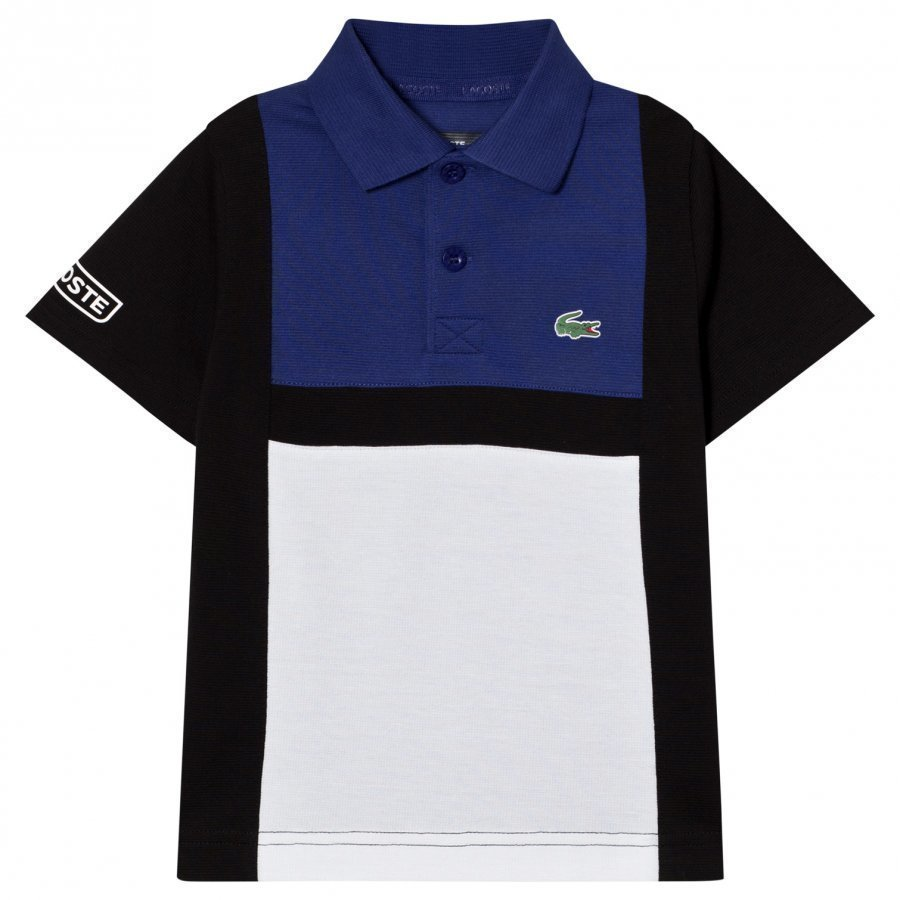 Lacoste Colorblock Tennis Polo Blue/Black Pikeepaita