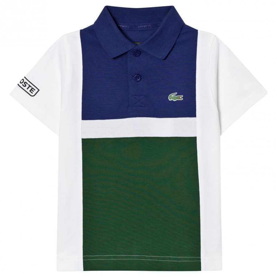 Lacoste Colorblock Tennis Polo Green/White Pikeepaita