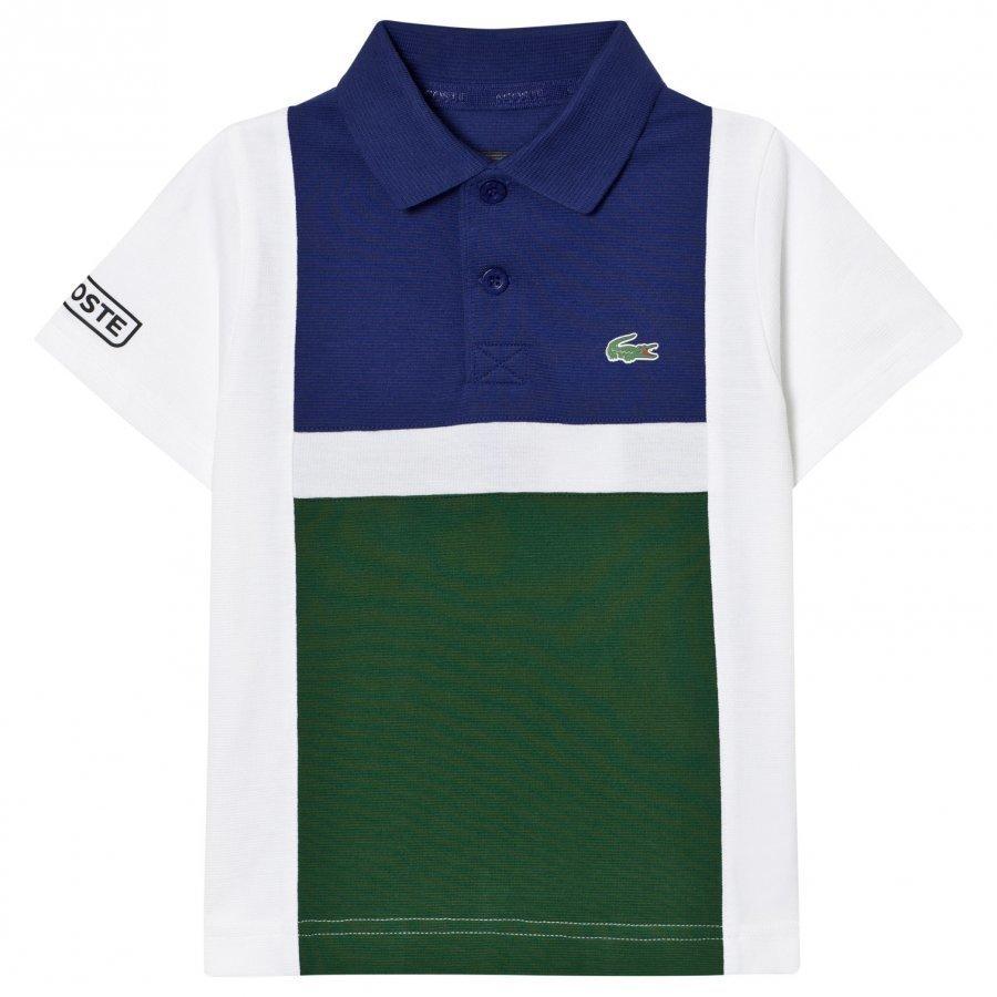 Lacoste Colorblock Tennis Polo Green/White Pikeepaita