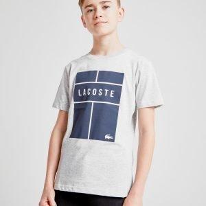 Lacoste Croc Box T-Shirt Harmaa