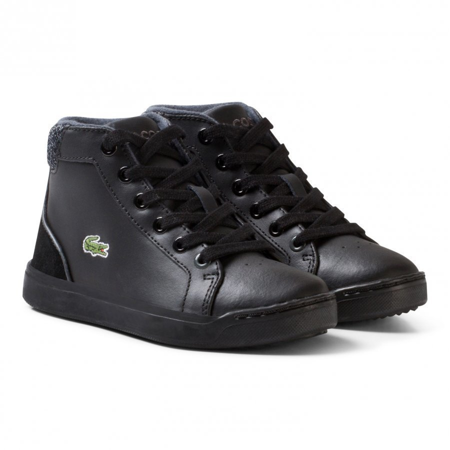 Lacoste Explorateur Lace Casual Trainers Black Korkeavartiset Kengät