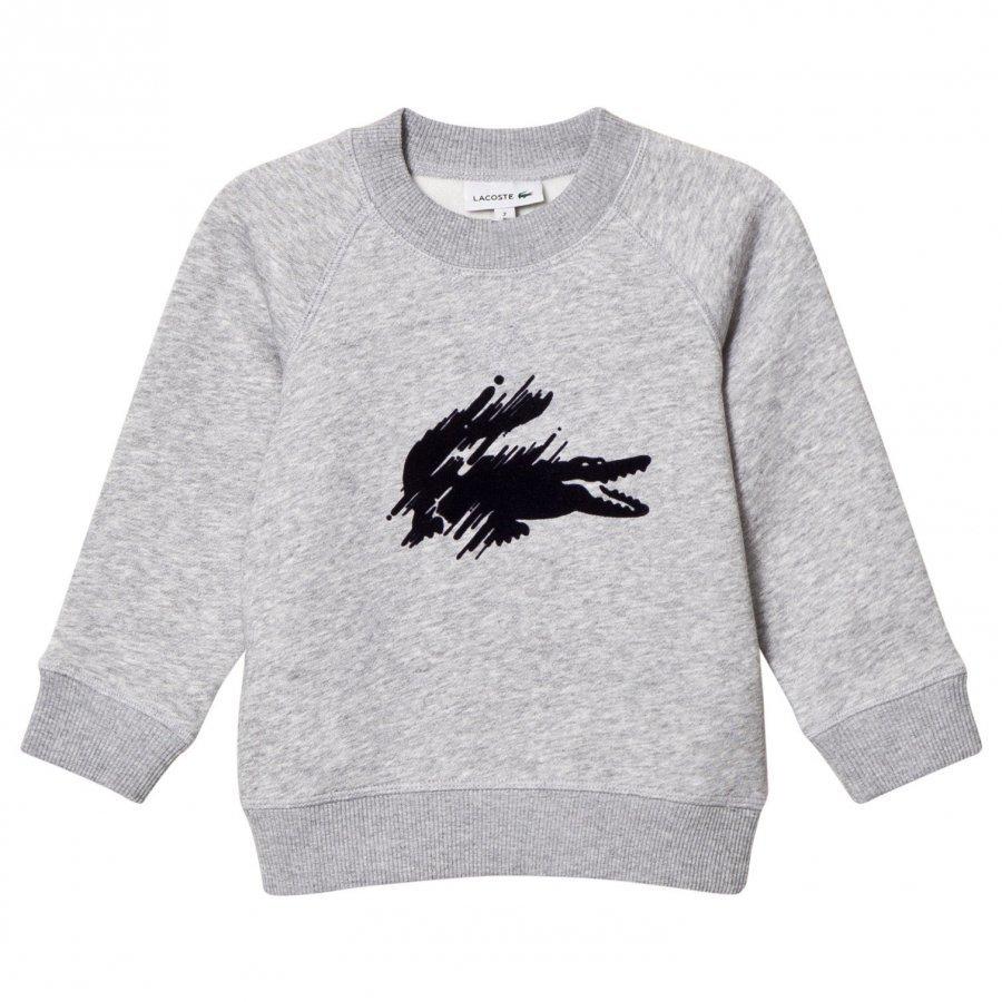 Lacoste Grey Marl Flocked Croc Sweatshirt Oloasun Paita