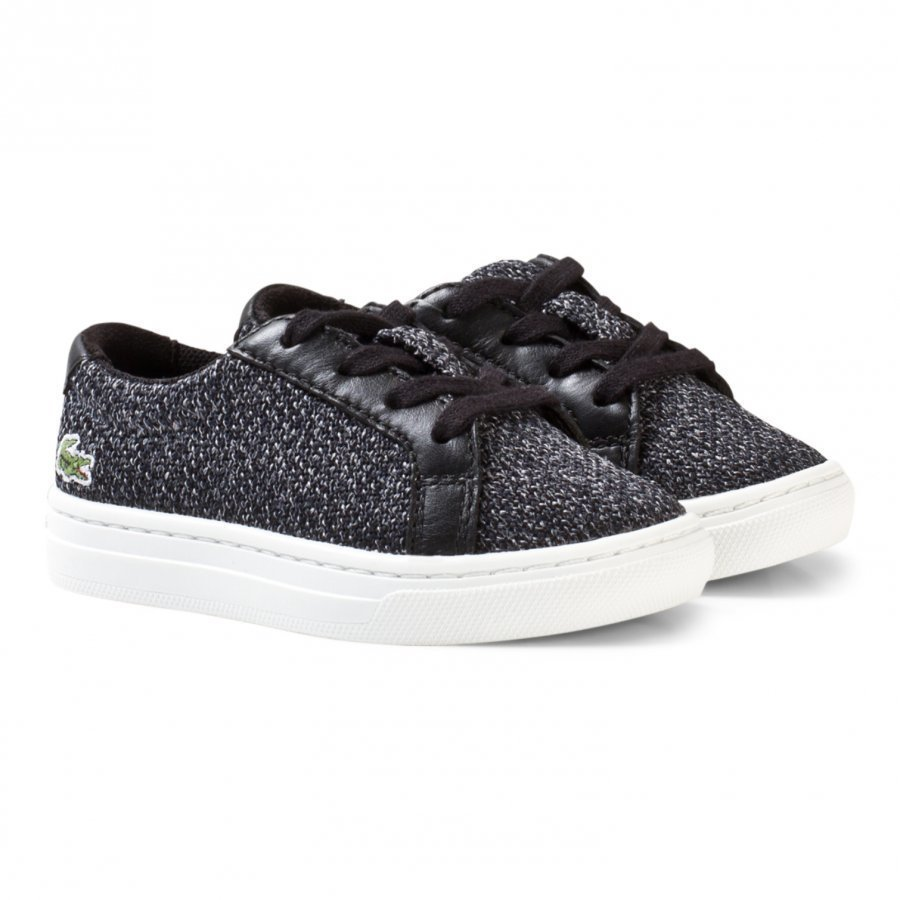 Lacoste L.12.12 Piqué Black And White Marl Sneakers Lenkkarit