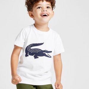 Lacoste Logo Croc T-Shirt Valkoinen