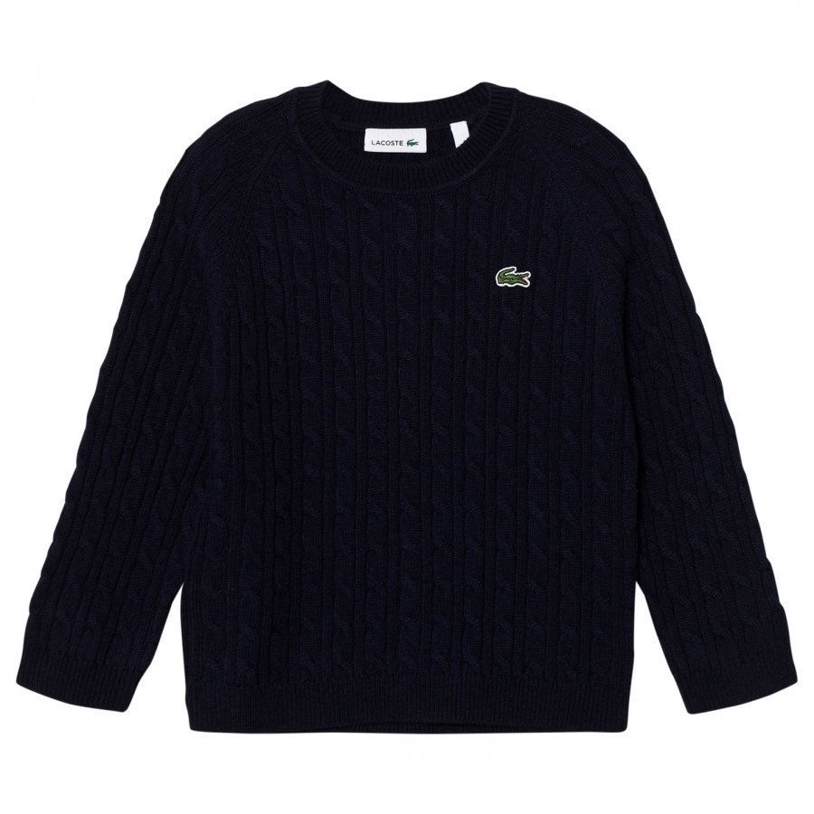 Lacoste Navy Cable Knit Jumper Paita