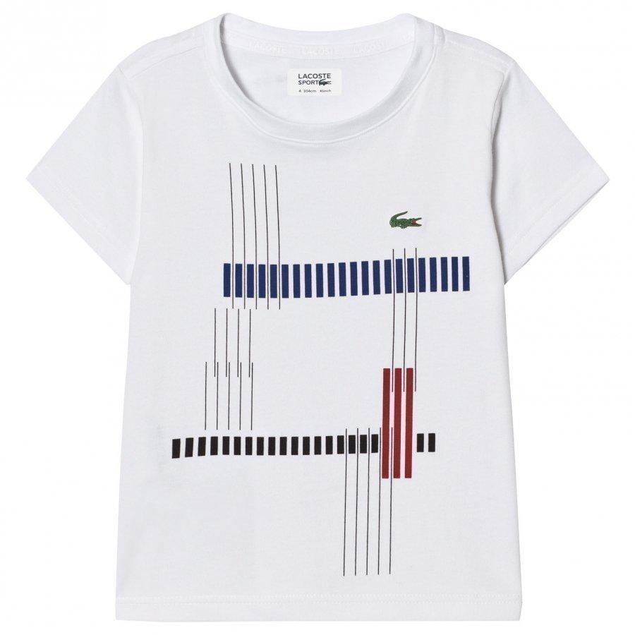 Lacoste Printed Ultradry Tee White T-Paita