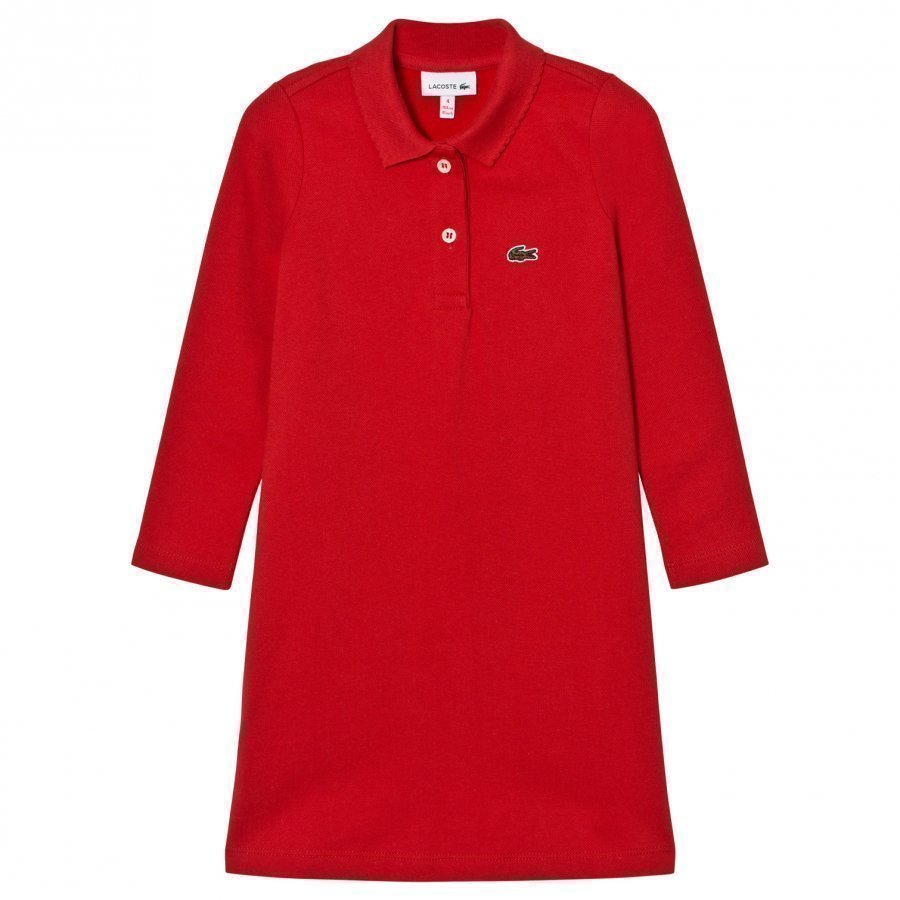 Lacoste Red Pique Polo Dress Mekko