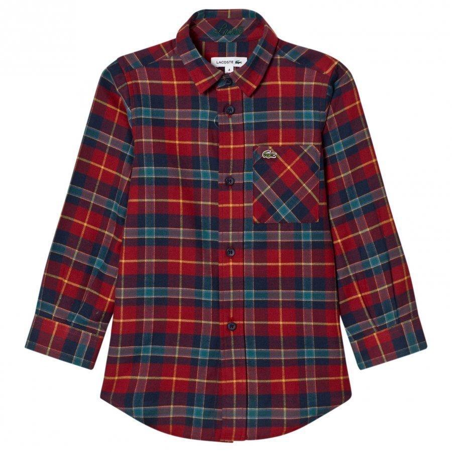 Lacoste Tartan Flannel Shirt Kauluspaita