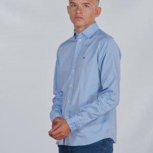 Lacoste Woven Shirts Kauluspaita Sininen