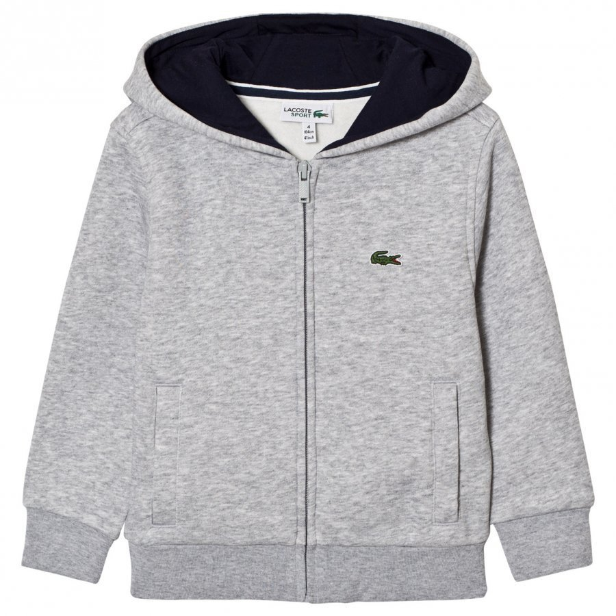 Lacoste Zippered Fleece Sweatshirt Gray Huppari