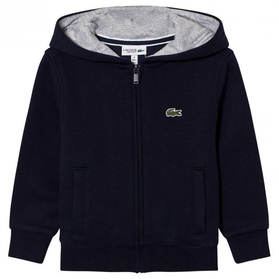 Lacoste Zippered Fleece Sweatshirt Navy Huppari