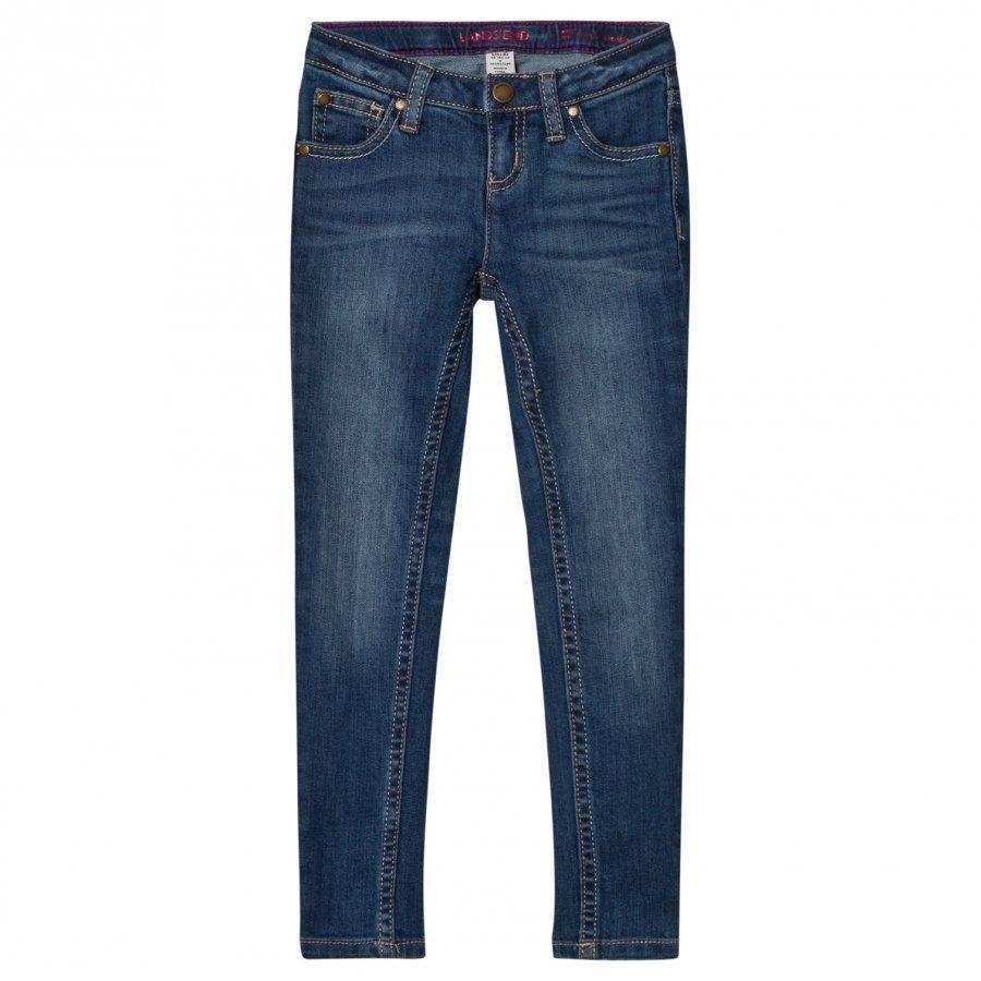 Lands End Blue Skinny Jeans Farkut