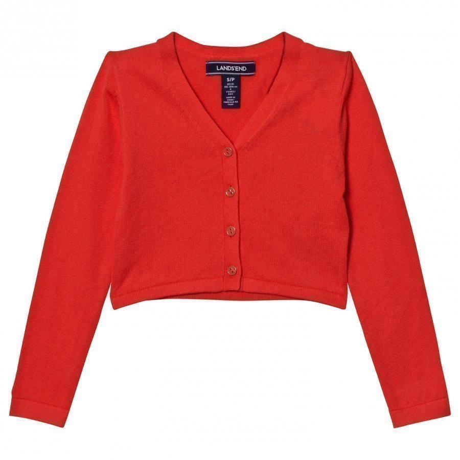 Lands End Orange Sophie Cardigan Neuletakki