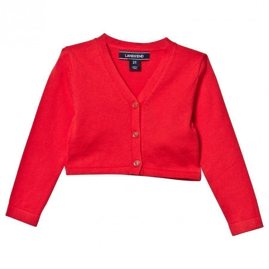 Lands End Red Sophie Cardigan Neuletakki