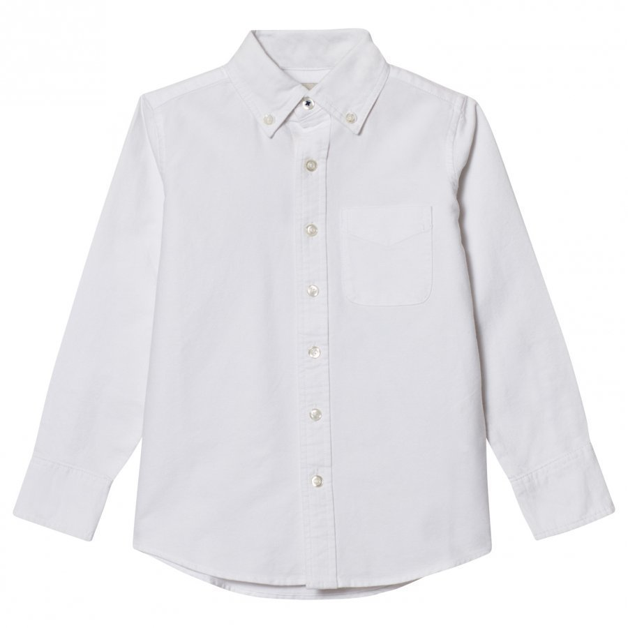 Lands End White Washed Oxford Shirt Kauluspaita