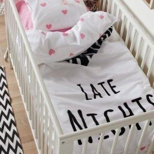 Late Nights Pussilakanasetti 2 Osaa Ekologinen Vauvan Musta / Roosa