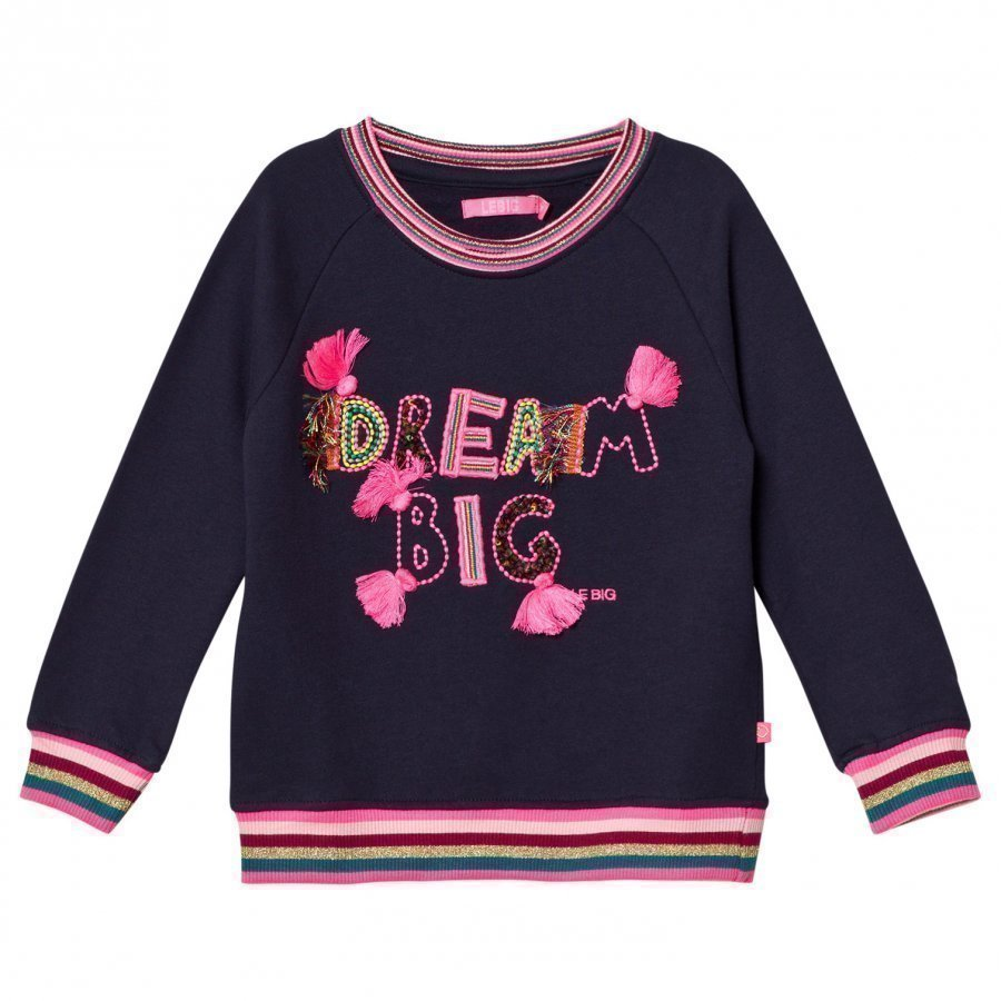 Le Big Dream Big Sweater Navy Oloasun Paita