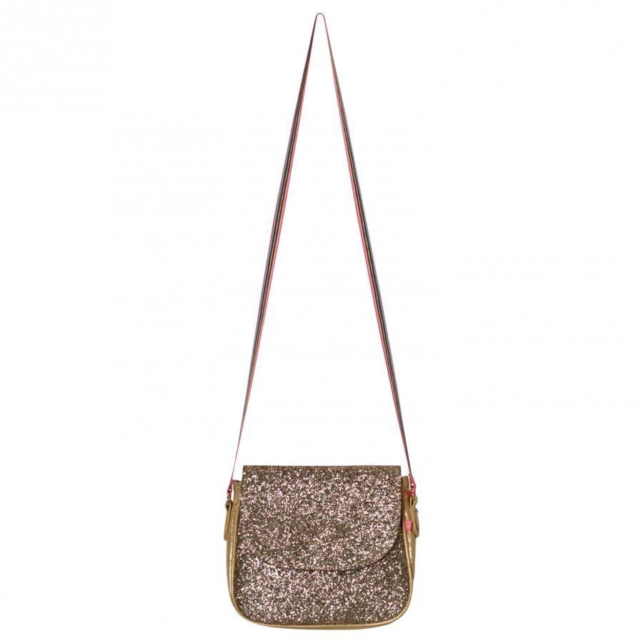 Le Big Gold Glitter Shoulder Bag Käsilaukku