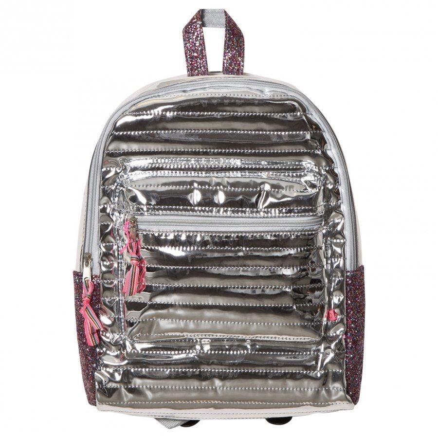 Le Big Metallic Backpack Silver Reppu