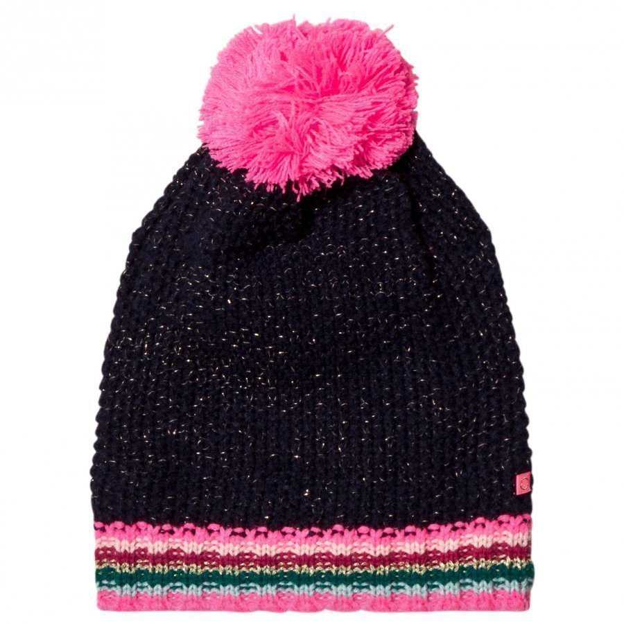 Le Big Navy Stripe Knitted Bobble Hat Pipo