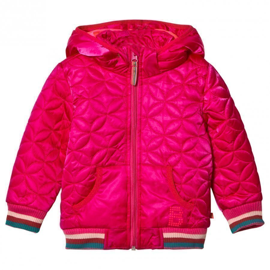 Le Big Pink Quilted Hooded Coat Tikkitakki