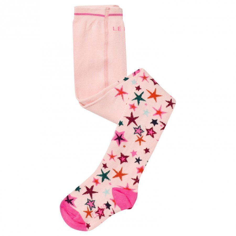 Le Big Pink Star Print Tights Sukkahousut