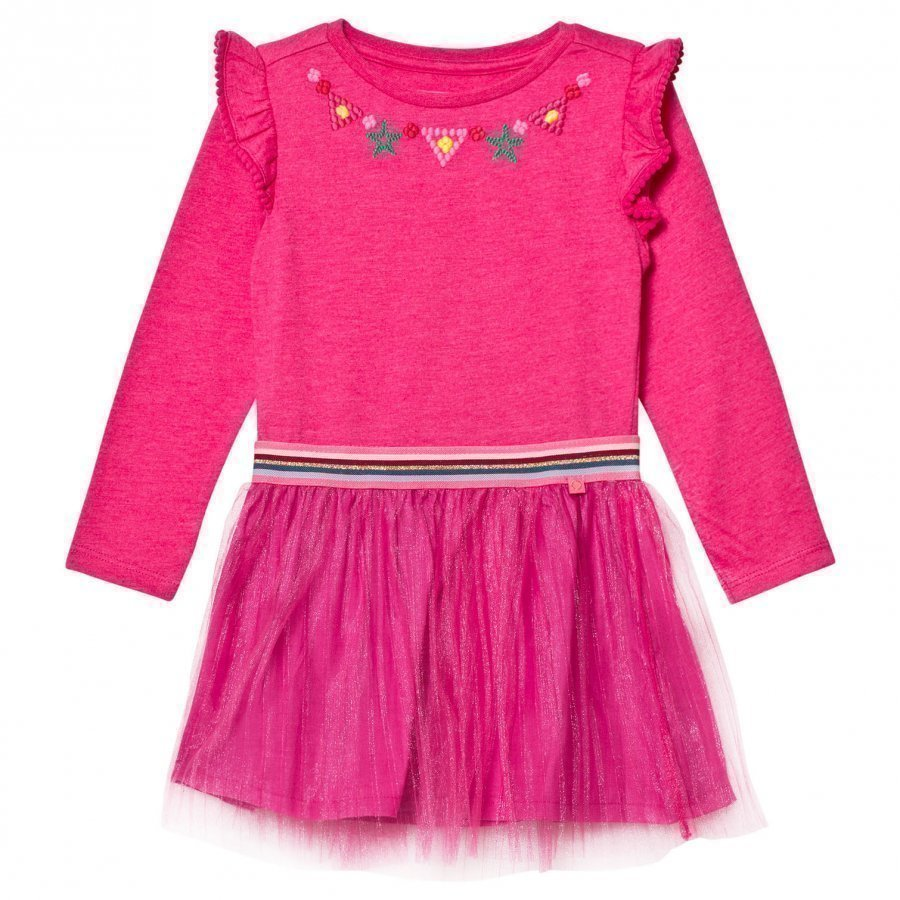 Le Big Super Pink Ghiselle Embroidered Dress Juhlamekko