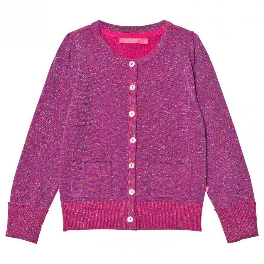 Le Big Super Pink Sparkle Cardigan Neuletakki