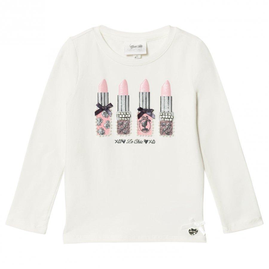 Le Chic Cream Lipstick Tee T-Paita