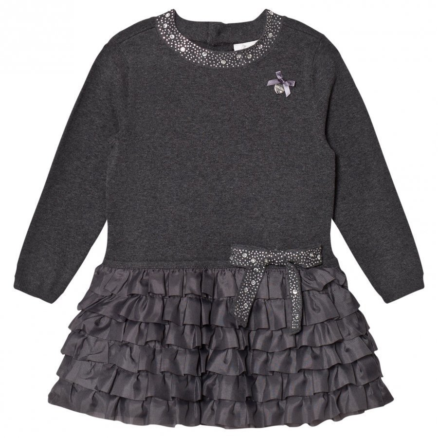 Le Chic Grey Ruffle Dress Juhlamekko