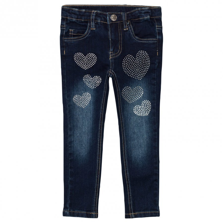 Le Chic Heart Stone Jeans Dark Wash Farkut