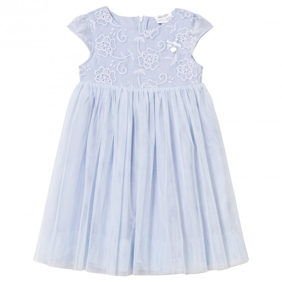 Le Chic Ice Blue Tulle And Embroidered Ceremony Dress Juhlamekko