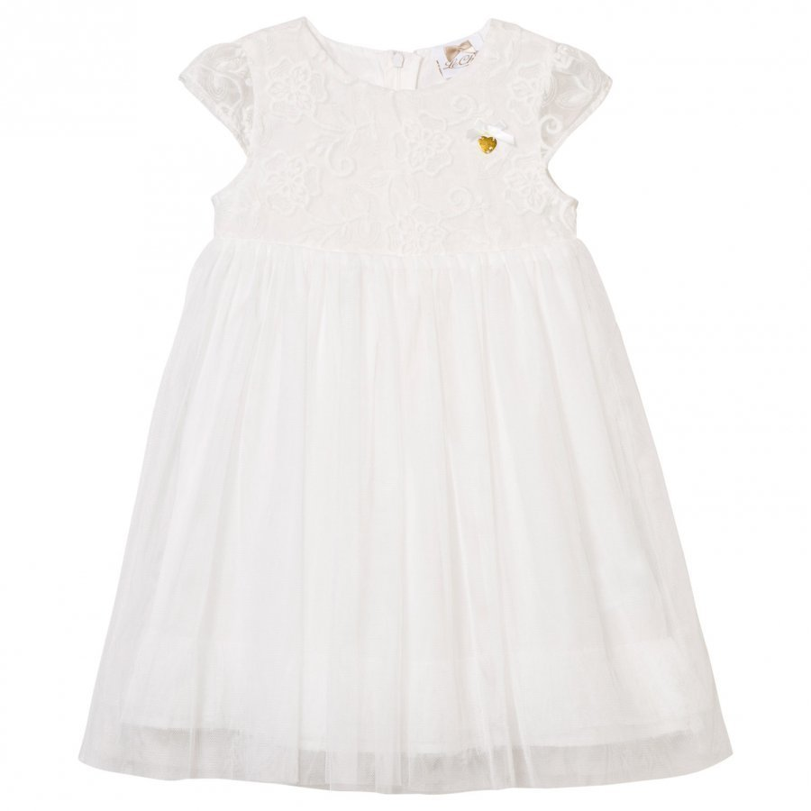 Le Chic Off White Tulle And Embroidered Ceremony Dress Mekko