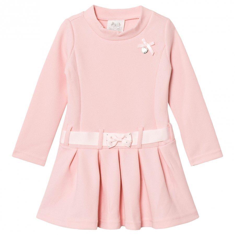 Le Chic Pink Pique Flower Dress Juhlamekko