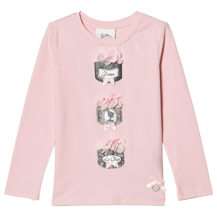 Le Chic Pink Powder Puff Tee T-Paita