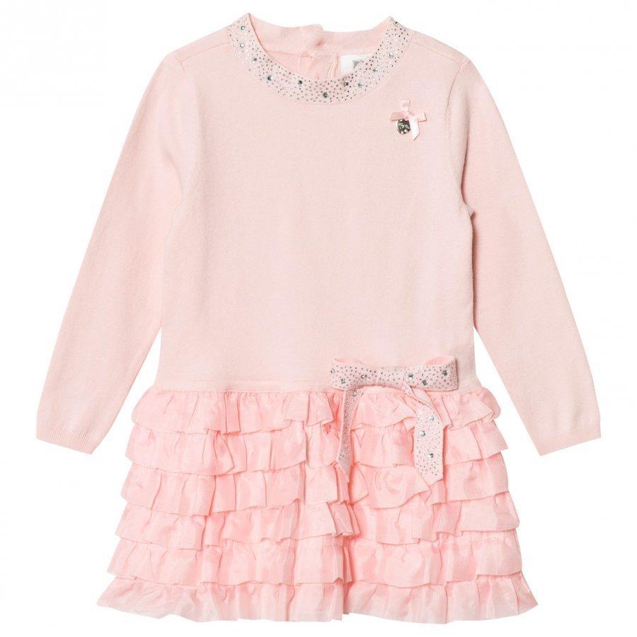 Le Chic Pink Ruffle Dress Juhlamekko