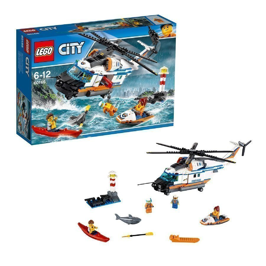 Lego City Järeä Pelastushelikopteri 60166