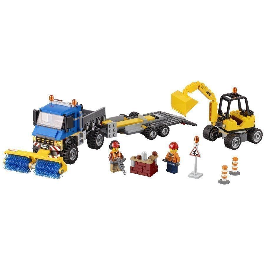 Lego City Kadunlakaisukone Ja Kaivinkone 60152