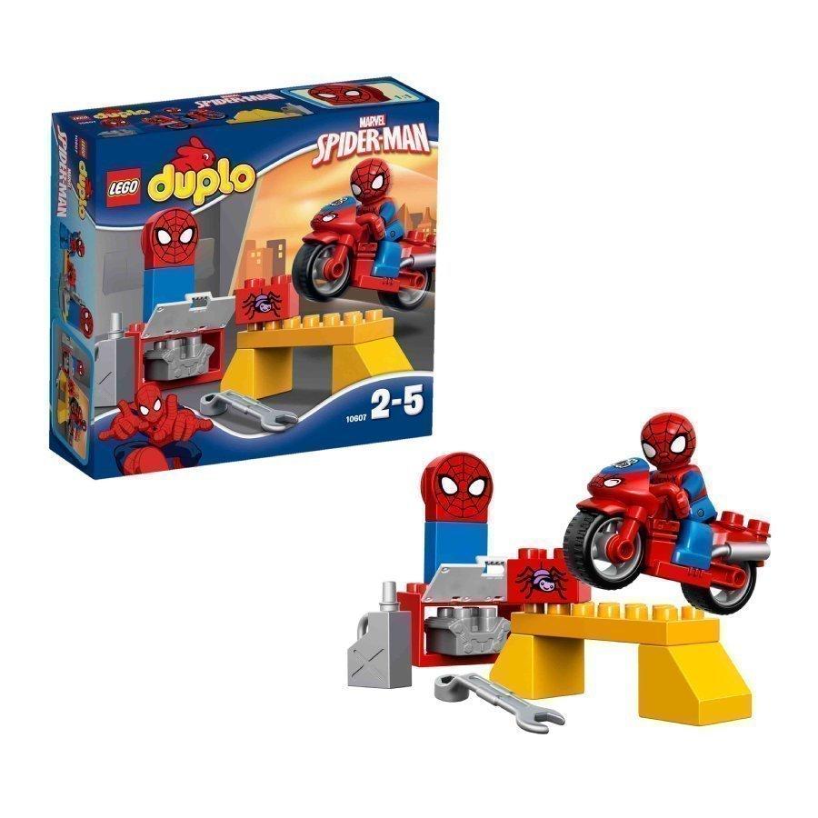 Lego Duplo Spiderman Spider Manin Seittimoottoripyörän Paja 10607