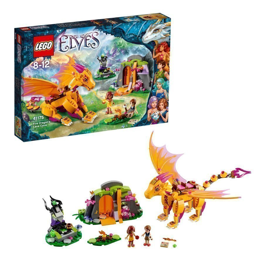 Lego Elves Tulilohikäärmeen Laavaluola 41175
