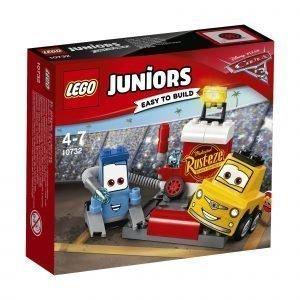 Lego Juniors 10732 Guidon Ja Luigin Varikkopysäkki