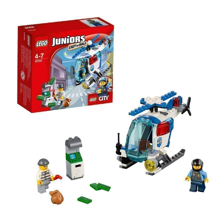 Lego Juniors Takaa Ajo Poliisihelikopterilla 10720