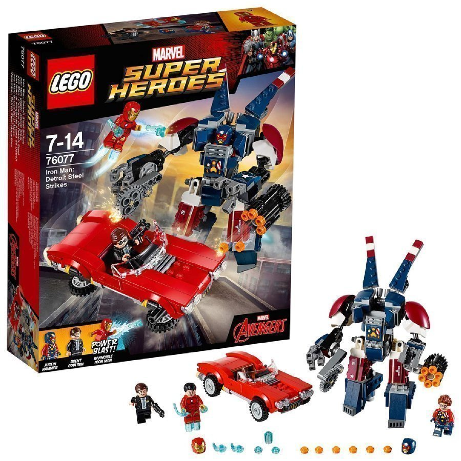 Lego Marvel Super Heroes Iron Man Detroit Steel Iskee 76077
