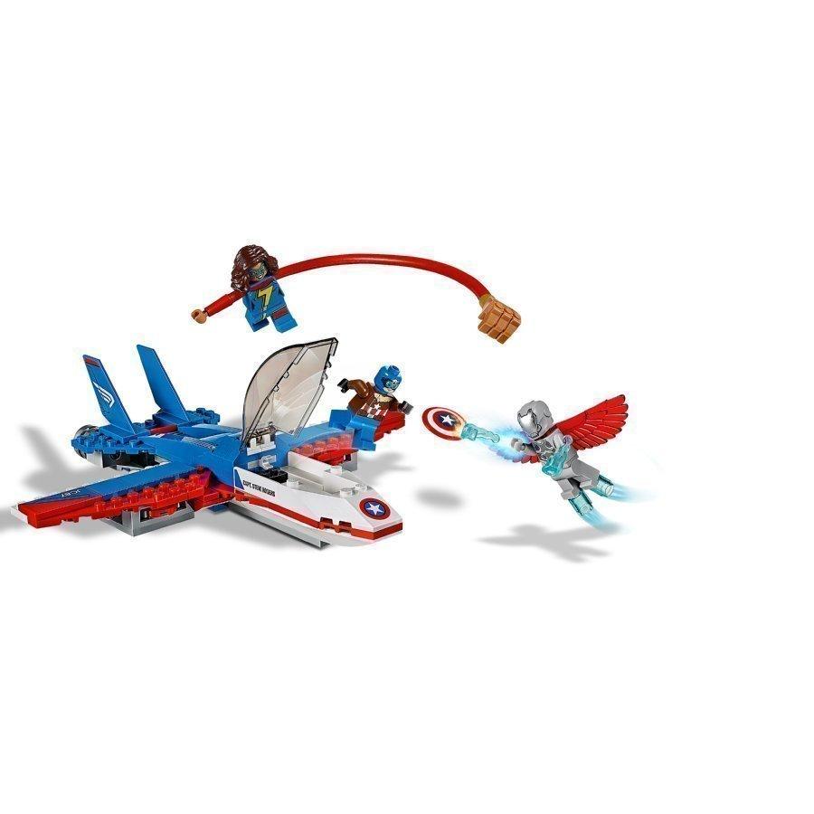 Lego Marvel Super Heroes Kapteeni Amerikan Suihkaritakaa Ajo 76076